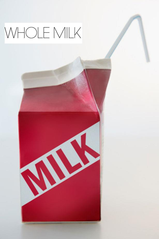 """<strong>FULL CREAM MILK</strong> <br> <br> """"<em>Full fat dairy would always be my recommendation as our bodies can utilize these fats for hormonal production,"""" </em>says Alwill. <br> <br> However <em>Burrell </em>says you need to watch your intake. """"<em>Full cream has the highest fat content of all milks with 9g or fat per serve and 6 grams of which is saturated and 180 calories</em>,"""" says Burrell. <br> <br> """"<em>Milk is an energy and nutrient dense food, just watch how much you are drinking as it has a relatively high calorie and fat load. One serve is fine, but 2-3 and you are adding 500cal and 30+g of fat to your diet</em>."""""""
