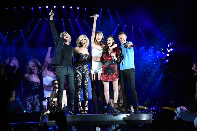 <p><strong>WITH LITTLE BIG TOWN</strong></p> <p>In Pittsburgh on June 6, 2015.</p>