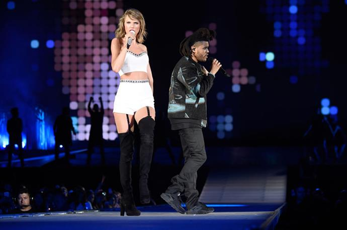 <p><strong>WITH THE WEEKND</strong></p> <p>In East Rutherford, New Jersey, on July 10, 2015.</p>