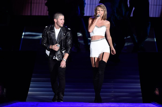 <p><strong>WITH NICK JONAS</strong></p> <p>In East Rutherford, New Jersey, on July 11, 2015.</p>