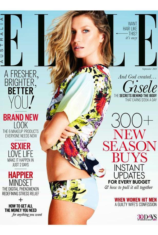 <strong>2014</strong> <br> <br> On the cover of <em>ELLE Australia</em>, September 2014 issue