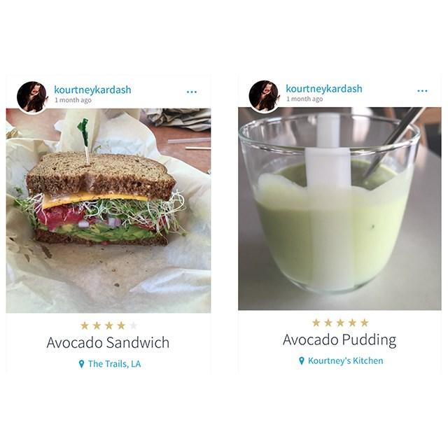 <p>Looks like Kourtney Kardashian is also a serious avocado enthusiast.</p>