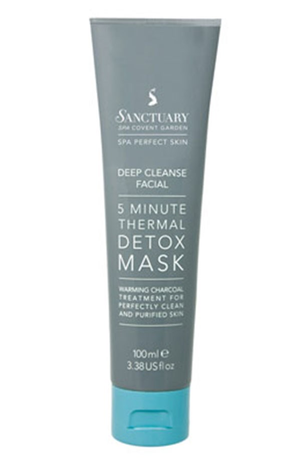 """<em>Amazing for breakouts and uneven texture</em> <br> <br> <a href=""""https://www.priceline.com.au/skincare/face-care/masks-and-peels/deep-cleanse-facial-5-minute-thermal-detox-mask-100-ml"""">Deep Cleanse Facial 5 Minute Thermal Detox Mask, $19.99, Sanctuary Spa</a>"""