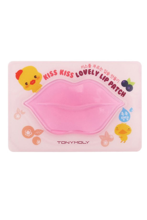 """<em>Best for lip-plumping</em> <br> <br> <a href=""""http://sokoglam.com/products/tony-moly-kiss-kiss-lovely-lip-patch"""">Kiss Kiss Lovely Lip Patch, $4, TONYMOLY </a>"""