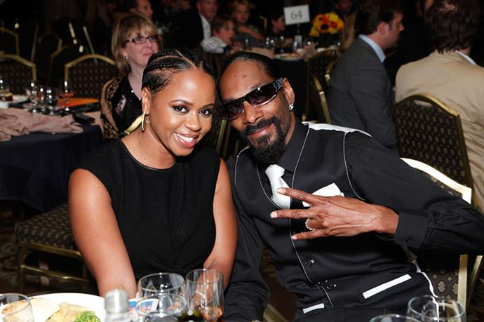 Snoop Dogg and Shante Broadus - They've been married 18 years and were highschool sweethearts. <3