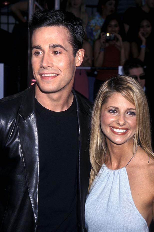 """Sarah Michelle Gellar and Freddie Prinze Jr - They'll be married for 13 years in September, and what makes them so great is the way they talk about their relationship: no ego or absolutisms, no """"We're the MOST in love and complete soul mates and it's just fate that we found each other because now the rest is happily ever after,"""" but more just like an honest """"Yeah, marriage is a challenge, we work at it"""" attitude. Which feels like the right attitude to making a marriage work, if there is one?"""
