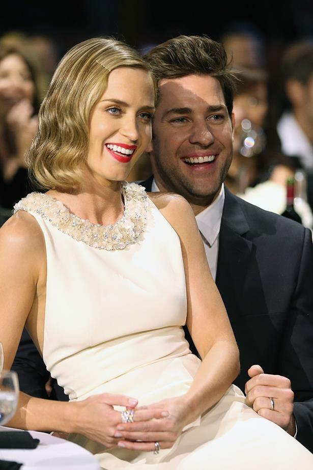 Emily Blunt and John Krasinski. These two would basically be your favorite funny couple to hang out with. Have you seen the video of them pranking Jimmy Kimmel? The most fun.