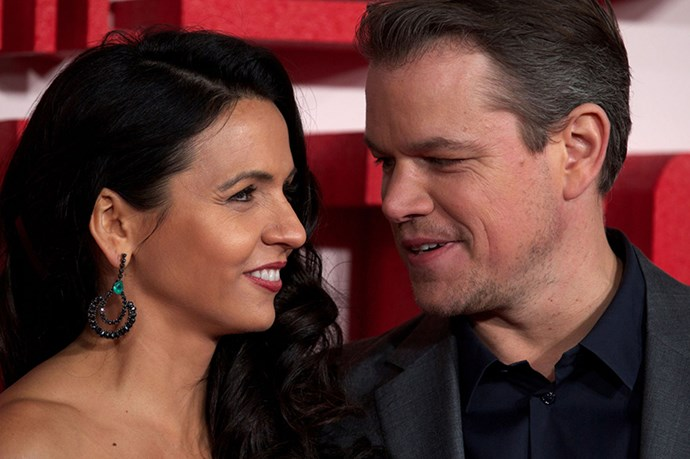 Matt Damon and Luciana Barroso - Luciana and Matt just seem real. Like totally down-to-earth, lets-sit-on-the-couch-and-watch-House-Hunters real.