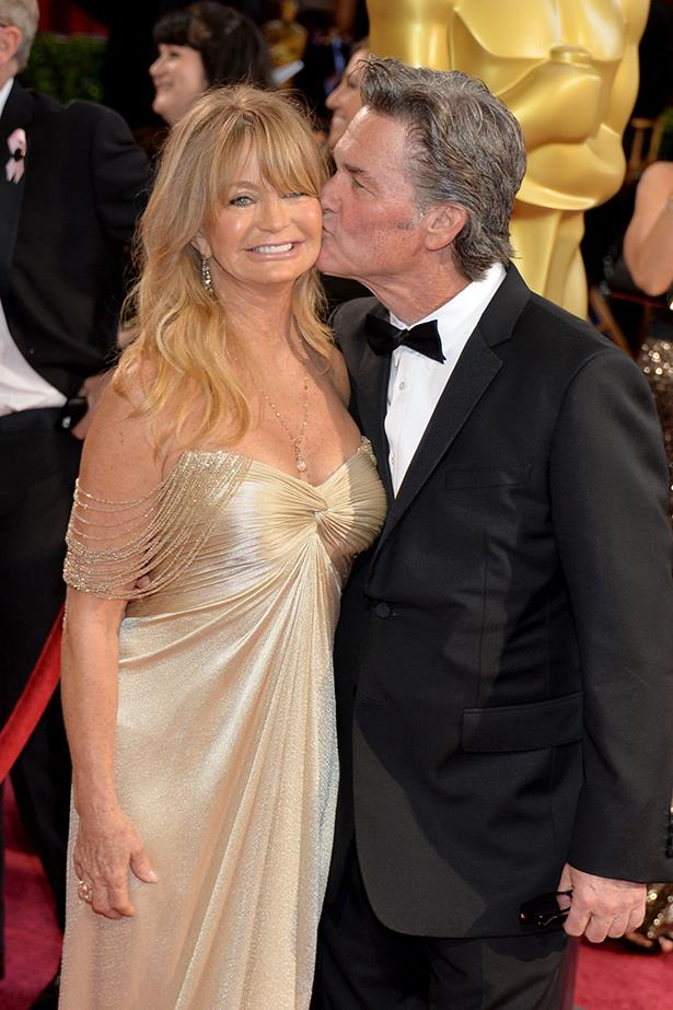 Goldie Hawn and Kurt Russell - Goldie and Kurt are the quintessential chill, Zen couple. But, no, literally—they meditate together. And while relationships take work, it probably helps when you make a practice of slowing down and being mindful together. And they always just seem so HAPPY in each other's presence.