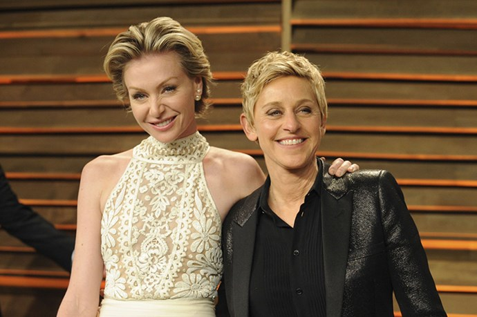Portia de Rossi and Ellen Degeneres - Not only do they love and support one another, they're also not afraid to laugh with (or maybe at) each other.