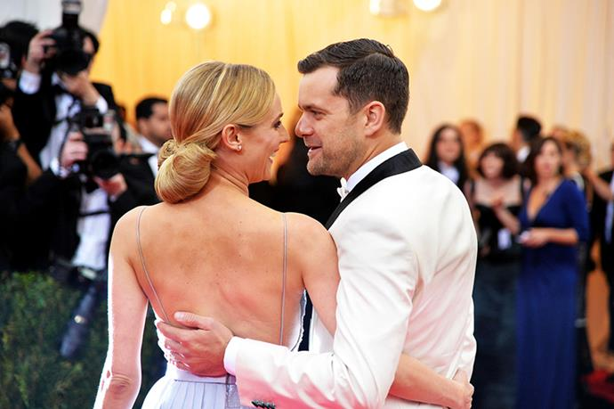 """Diane Kruger and Joshua Jackson - Though we believe that they recently got secret married—Jackson called Kruger his """"wife"""" in an interview—these two fully represent the understated version of commitment. They don't oversell their obsession via hyperbolic declarations or crass PDA, but rather genuinely seem to prefer one another over all other human company. If they ever break up and we're forced to see Pacey holding some other style icon's umbrella, we'll just feel a little less safe here on planet Earth."""