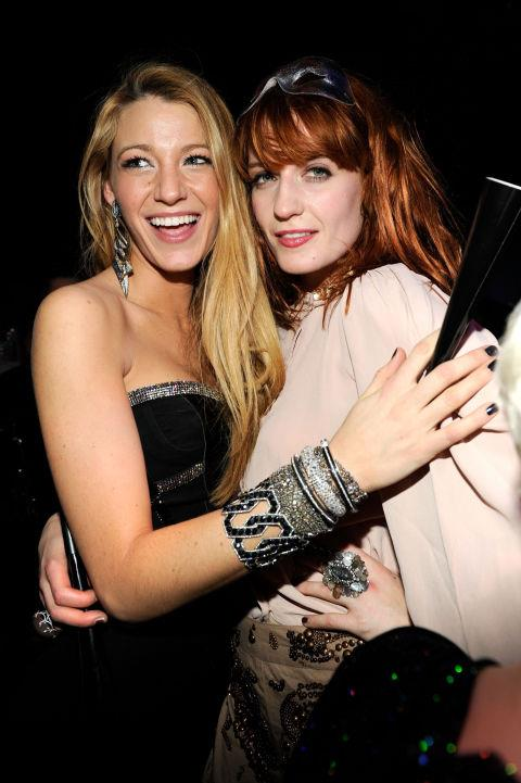 BLAKE LIVELY AND FLORENCE WELCH. So-close-Florence-sang-at-her-wedding friends.