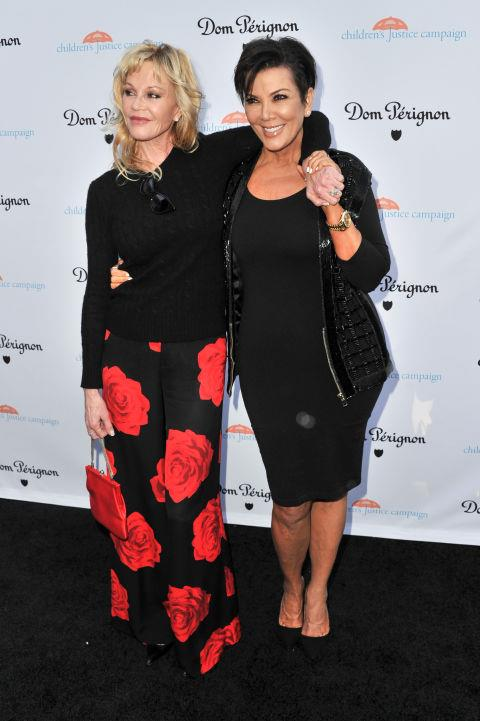 MELANIE GRIFFITH AND KRIS JENNER. Vacationing friends (Melanie's daughter Dakota Johnson even came along!).
