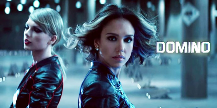 "TAYLOR SWIFT AND JESSICA ALBA. Surprise ""Bad Blood"" besties."