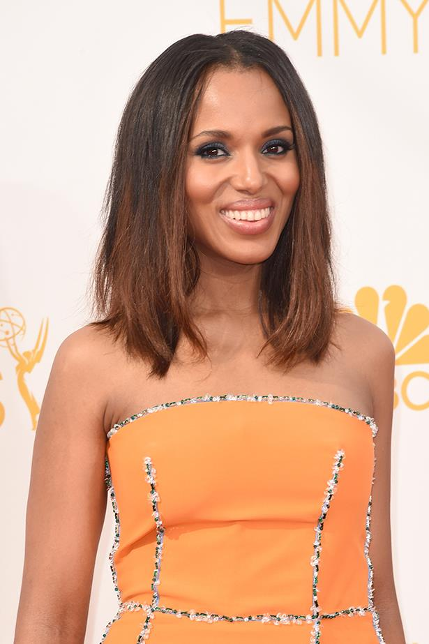 """Kerry Washington: """"I think [discussion of race and gender is] relevant. I think gender is relevant. I bring something to the table as a woman; I bring something to the table as a woman of color. So I feel like, if it's the only thing you focus on, then it's a danger, and if you never talk about it then it's a danger."""""""