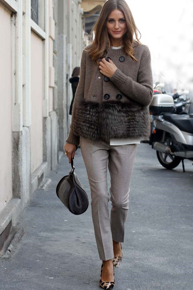 <p>January 14, 2012</p> <p>Olivia Palermo attends Ermenegildo Zegna fashion show in Milan, Italy.</p>