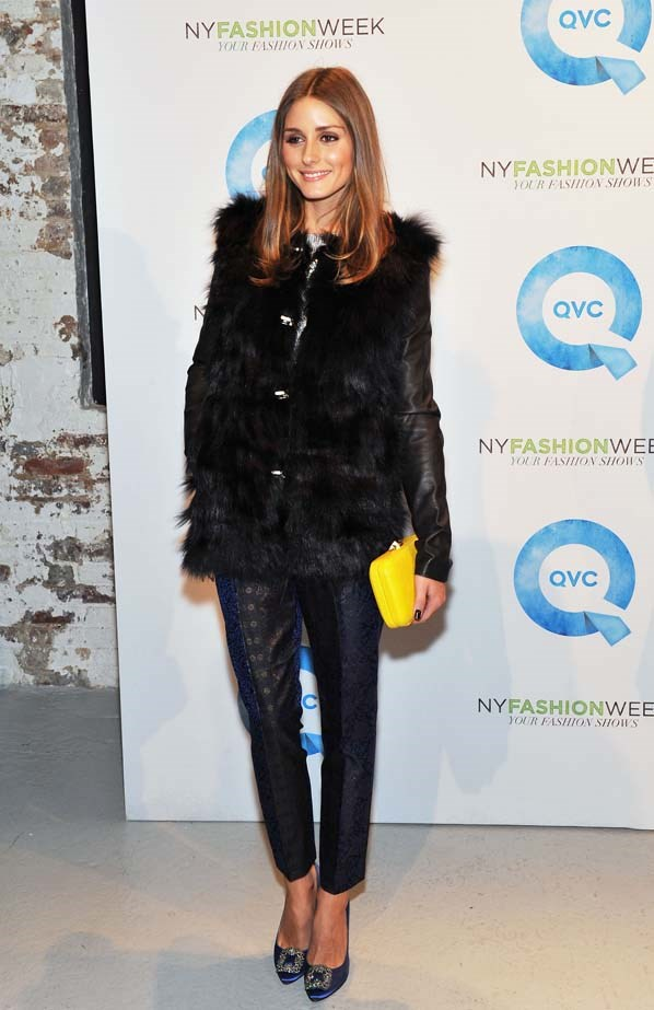 <p>February 08, 2012</p> <p>Olivia Palermo attends QVC's New York Fashion Week runway show in New York.</p>
