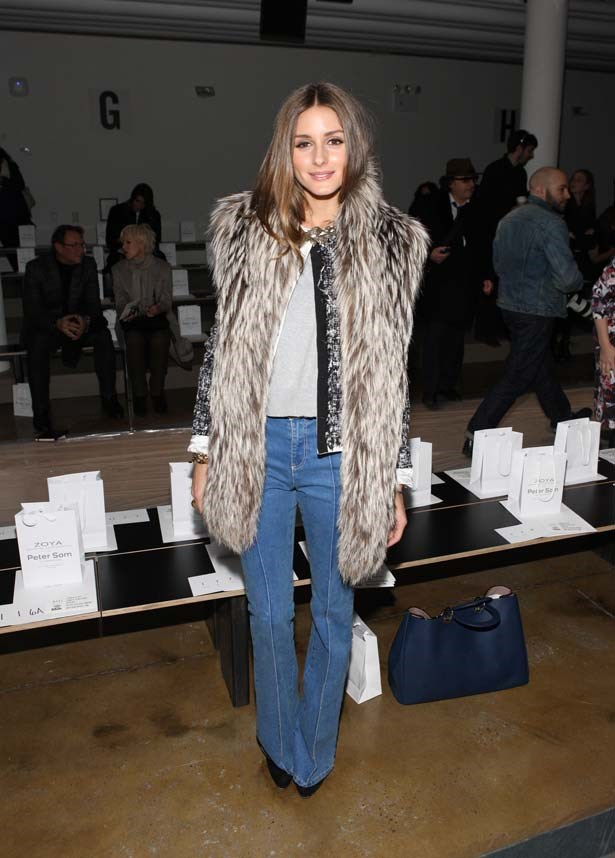 <p>February 10, 2012</p> <p>Olivia Palermo attends the Peter Som Fall 2012 fashion show during Mercedes-Benz Fashion Week.</p>