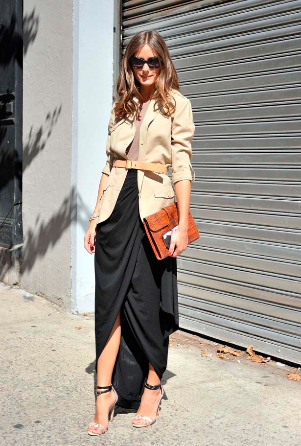 <p>September 12, 2012</p> <p>Olivia Palermo seen outside the Elizabeth and James show wearing a vintage jacket and top with a Rachel Zoe skirt.</p>