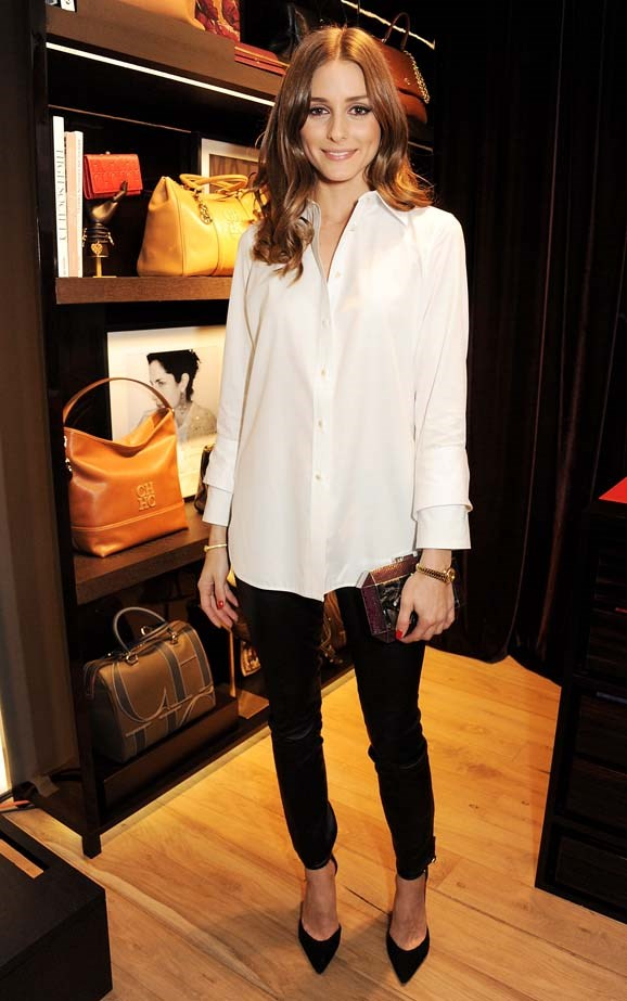 <p>November 29, 2012</p> <p>Olivia Palermo attends the launch of CH Carolina Herrera's White Shirt Collection at their new Fulham Road store in London.</p>