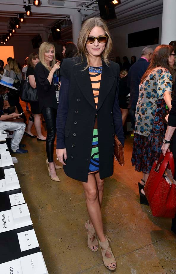 <p>September 06, 2013</p> <p>Olivia Palermo attends the Peter Som show during Spring 2014 Mercedes-Benz Fashion Week at Milk Studios.</p>