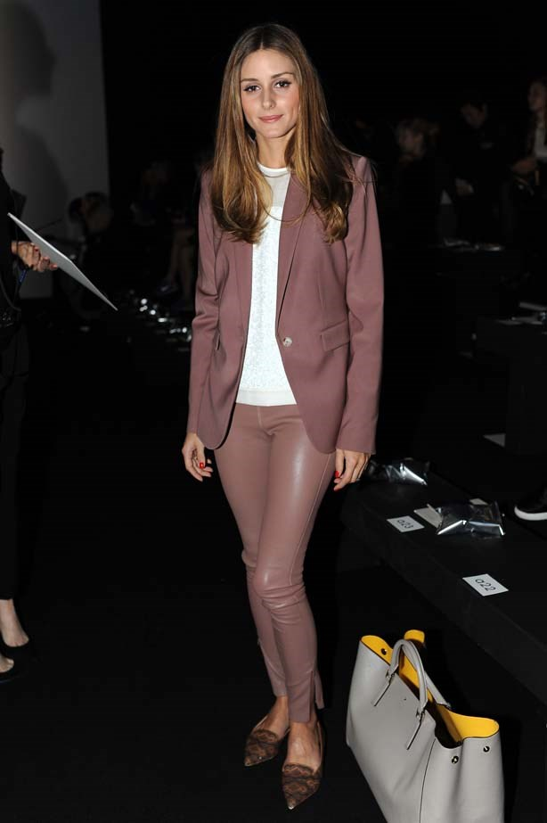 <p>September 17, 2013</p> <p>Olivia Palermo attends the Anya Hindmarch show during London Fashion Week SS14.</p>