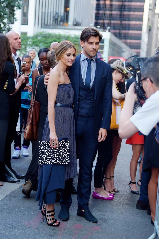 <p>July 17, 2014</p> <p>Olivia Palermo and Johannes Huebl photographed together in New York City.</p>