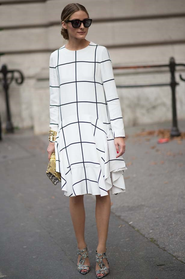 <p>September 28, 2014</p> <p>Olivia Palermo in the streets of Paris during the Paris fashion week.</p>