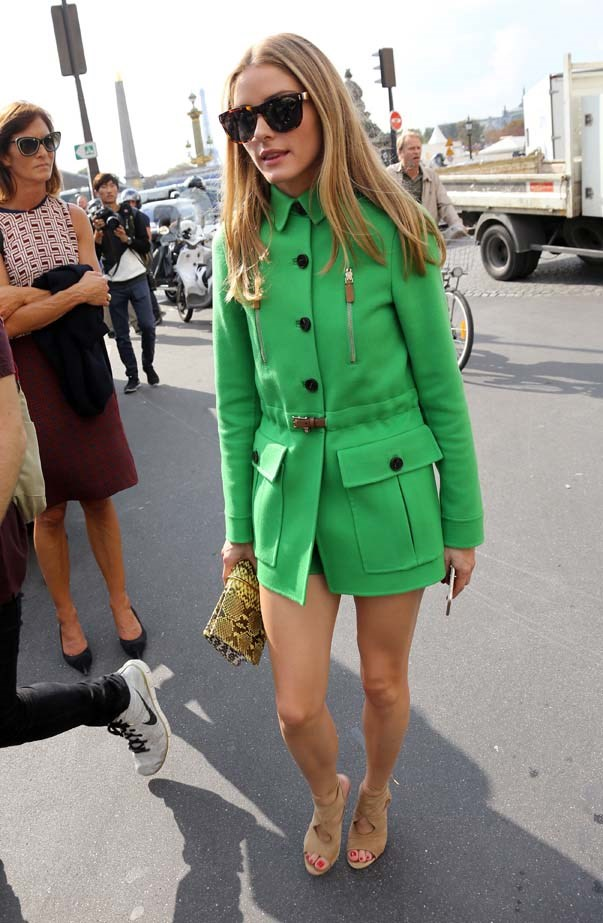 <p>September 30, 2014</p> <p>Olivia Palermo attends the Valentino fashion show at the Jardin des Tuileries.</p>