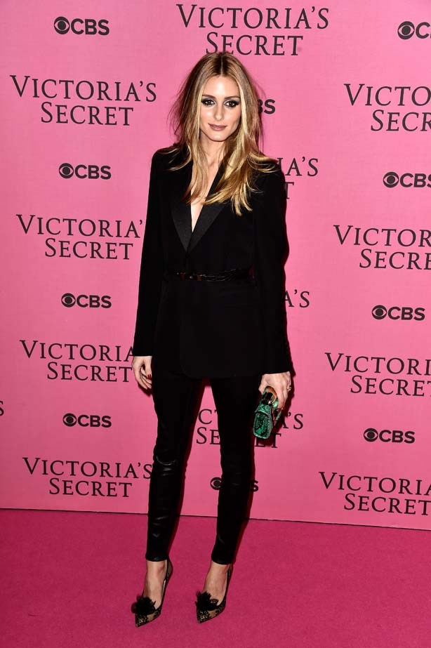 <p>December 02, 2014</p> <p>Olivia Palermo attends the annual Victoria's Secret fashion show at Earls Court in London.</p>