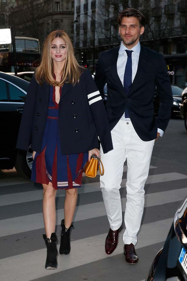 <p>March 31, 2015</p> <p>Olivia Palermo and Johannes Huebel attend the Tommy Hilfiger Boutique opening in Paris.</p>