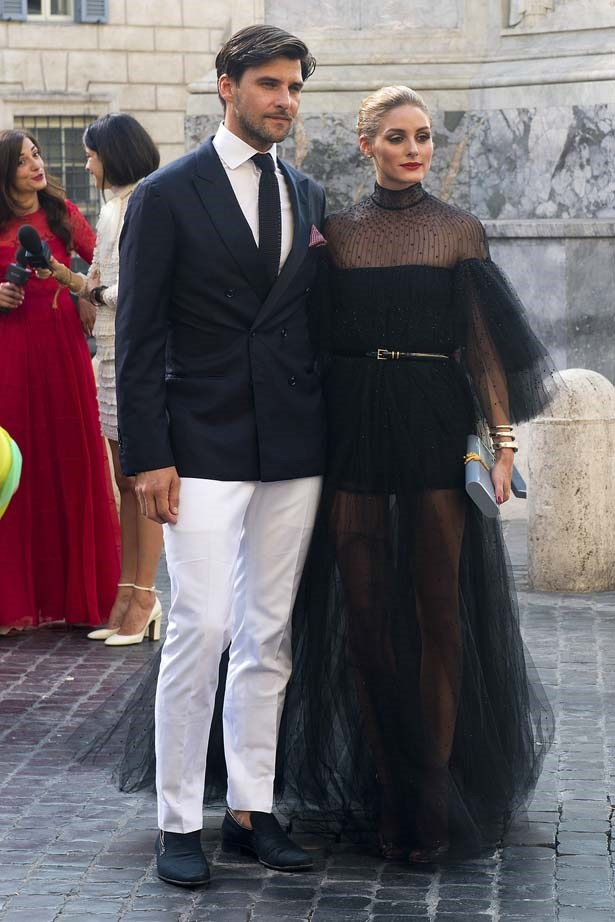 <p>July 09, 2015</p> <p>ohannes Huebl and Olivia Palermo spotted arriving at Valentino 'Mirabilia Romae' Haute Couture collection in Rome.</p>