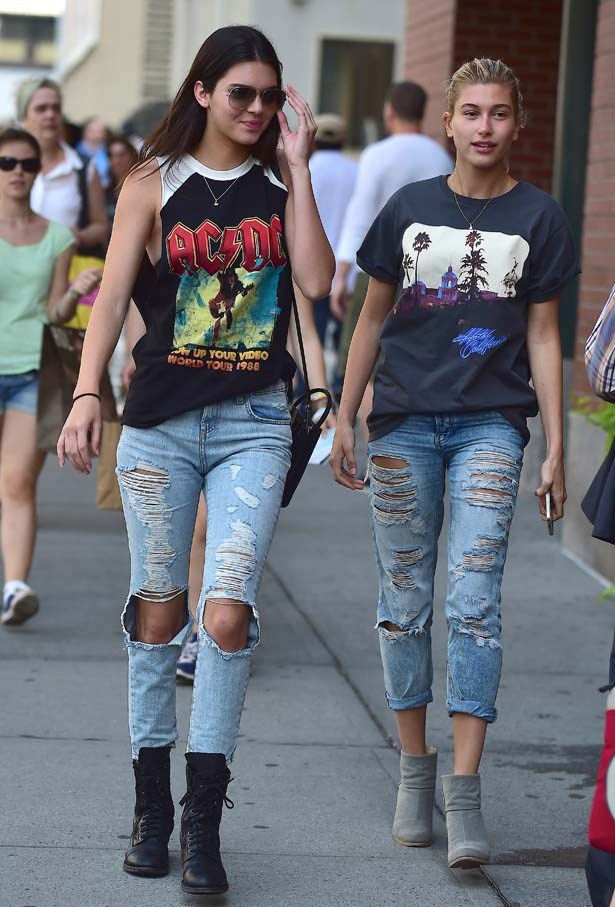 <p>July 03, 2014</p> <p>Kendall Jenner and close friend Hailey Baldwin are seen in Soho in New York.</p>