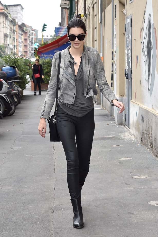 <p>September 18, 2014</p> <p>Kendall Jenner leaves Fendi Fashion Show during Milan Fashion Week Womenswear SS15.</p>