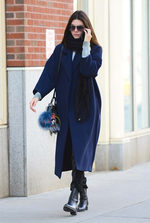 <p>October 20, 2014</p> <p>Kendall Jenner is seen rugged up in Soho.</p>