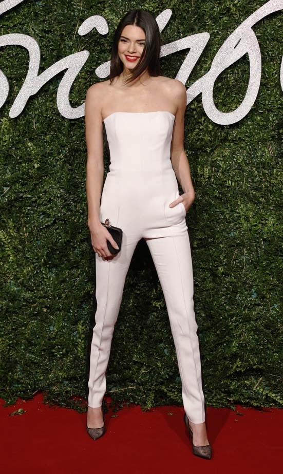 <p>December 01, 2014</p> <p>Kendall Jenner poses for pictures on the red carpet upon arrival to attend the British Fashion Awards 2014 in London.</p>