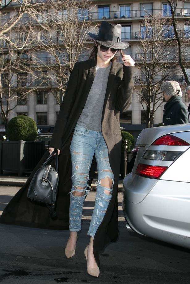 <p>January 24, 2015</p> <p>Kendall Jenner pictured in Paris.</p>