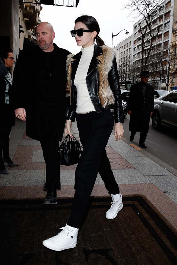 <p>January 27, 2015</p> <p>Kendall Jenner arrives at her hotel after the Chanel Show in Paris.</p>