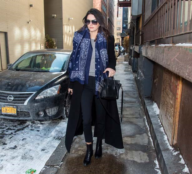 <p>February 18, 2015</p> <p>Kendall Jenner is seen leaving Michael Kors fashion show during Mercedes-Benz Fashion Week AW15.</p>