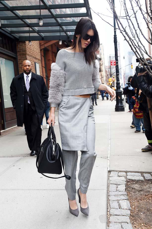<p>March 31, 2015</p> <p>Kendall Jenner seen out in Tribeca.</p>