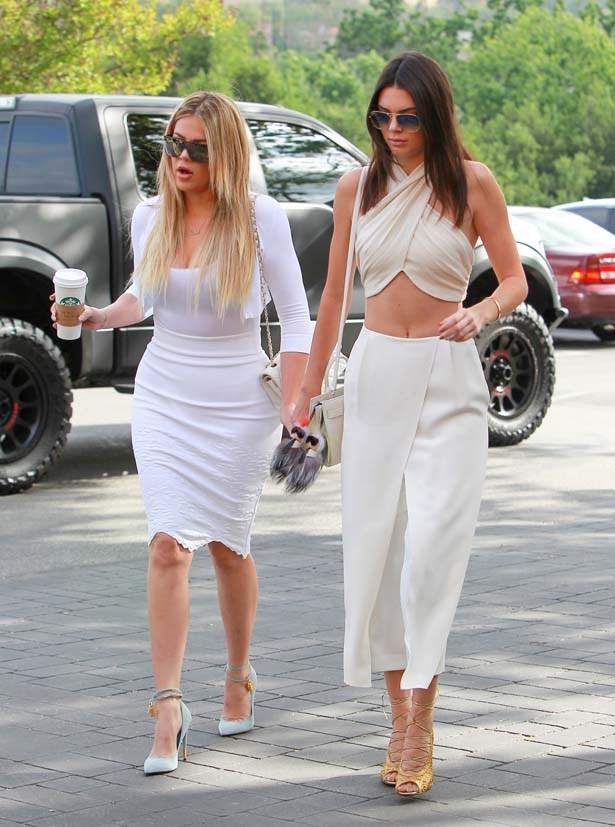 <p>April 05, 2015</p> <p>Kendall Jenner and older sister Khloe Kardashian seen at church for Easter in Los Angeles.</p>