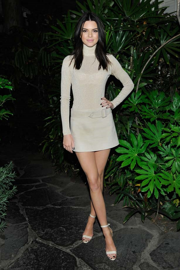 <p>April 23, 2015</p> <p>Kendall Jenner attends Opening Ceremony and Calvin Klein Jeans' celebration launch of the #mycalvins Denim Series.</p>