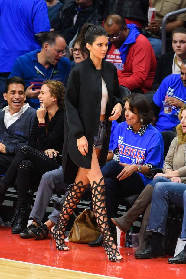 <p>May 08, 2015</p> <p>Kendall Jenner attends a basketball game between the Houston Rockets and The Los Angeles Clippers at Staples Center.</p>