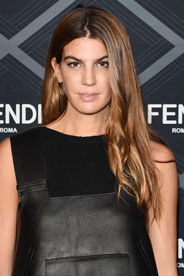<strong>Bianca Brandolini P'Adda</strong> <br> <br> <em>Matte-tan skin and tonged hair</em>