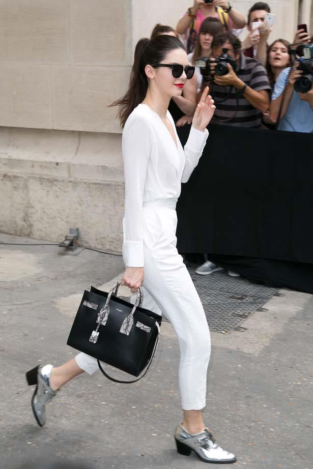 <p>July 07, 2015</p> <p>Kendall Jenner leaves the Chanel show as part of Paris Fashion Week Haute Couture AW15-16.</p>