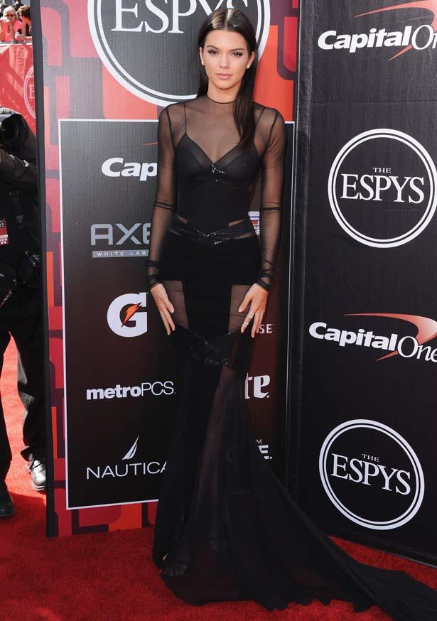 <p>July 15, 2015</p> <p>Kendall Jenner arrives at The 2015 ESPYS at Microsoft Theater in LA.</p>