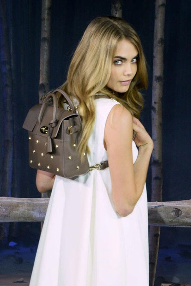 """<p><strong>4. CARA DELEVINGNE</strong></p> <p>Brand: Mulberry</p> <p>Name: Cara Delevingne</p> <p>Bag Cost: $1,270-$2,880</p> <p>Buy it here: <a href=""""http://www.mulberry.com/us/shop/cara-delevingne"""">Mulberry</a></p>"""