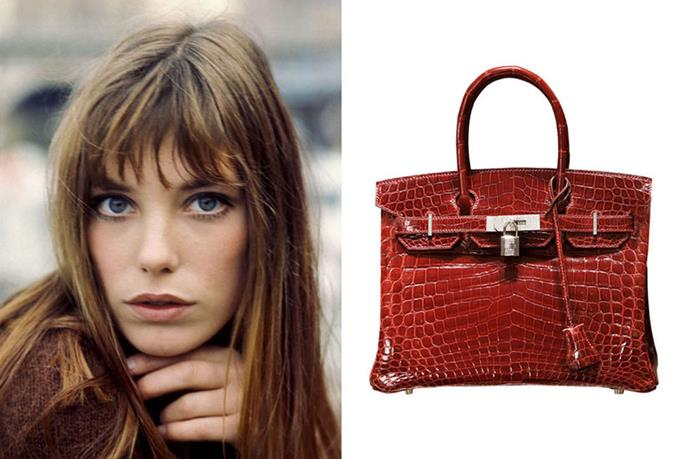 """<p><strong>1. JANE BIRKIN</strong></p> <p>Brand: Hermès</p> <p>Name: Birkin bag</p> <p>Cost: Price upon request</p> <p>Buy it at your nearest <a href=""""http://www.hermes.com/index_us.html"""">Hermès boutique</a></p>"""