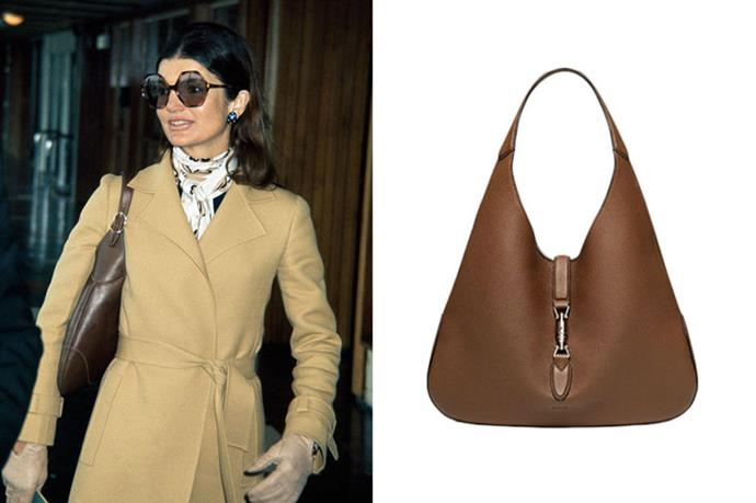 """<p><strong>3. JACKIE KENNEDY</strong></p> <p>Brand: Gucci</p> <p>Name: The Jackie Bag</p> <p>Cost: $2,990</p> <p>Buy it here: <a href=""""http://www.gucci.com/us/home#362968AZB0N2548"""">Gucci</a></p>"""