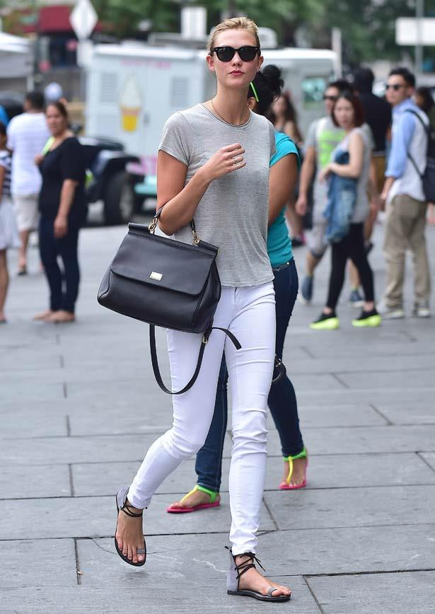 Proof that white jeans CAN look tasteful.